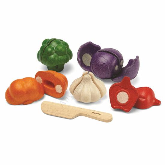 PlanToys 5 színű vegetáriánus szett