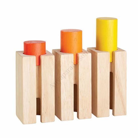 Plan Toys fa magasság és mélység elemek
