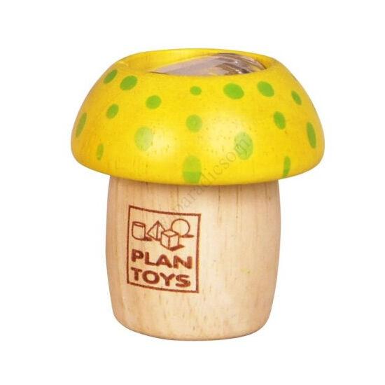 Plan Toys gombás kaleidoszkóp sárga