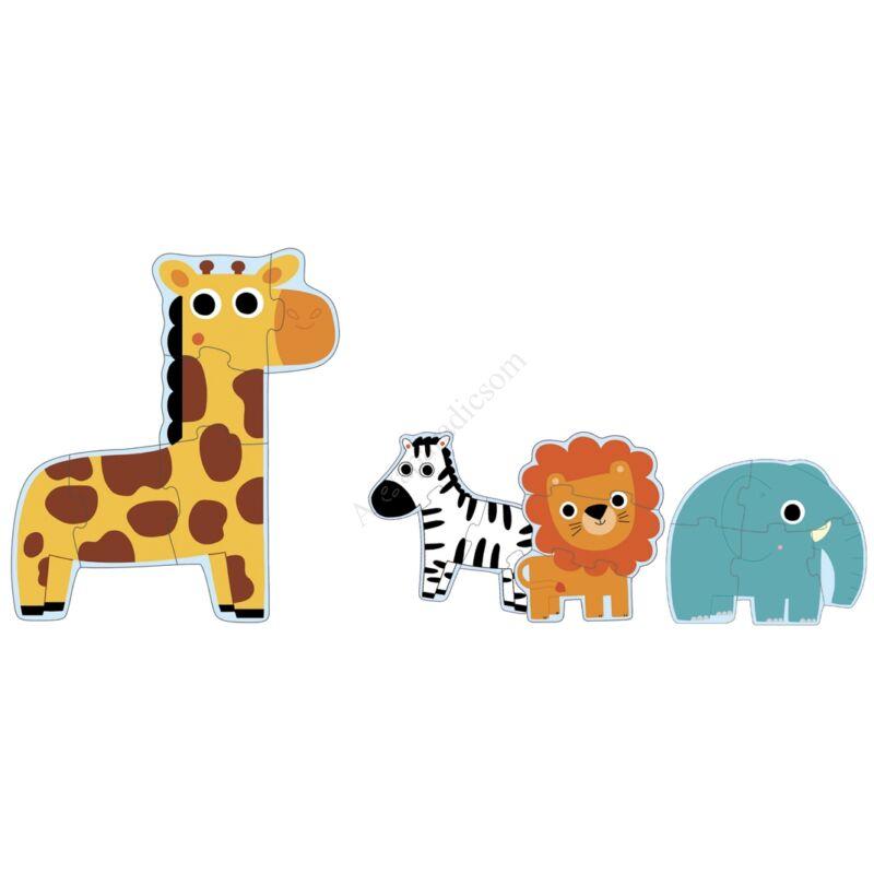 Djeco Óriás puzzle - A szavannán
