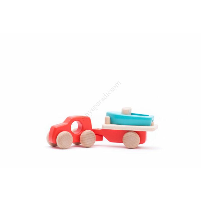 bajo csonakszallito auto piros