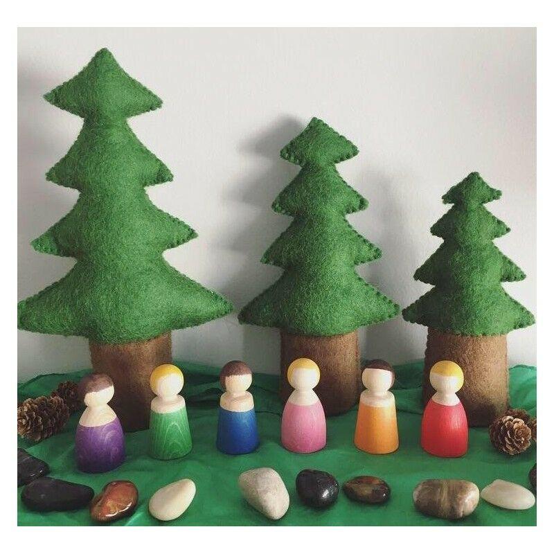bauspiel szines fa figurak