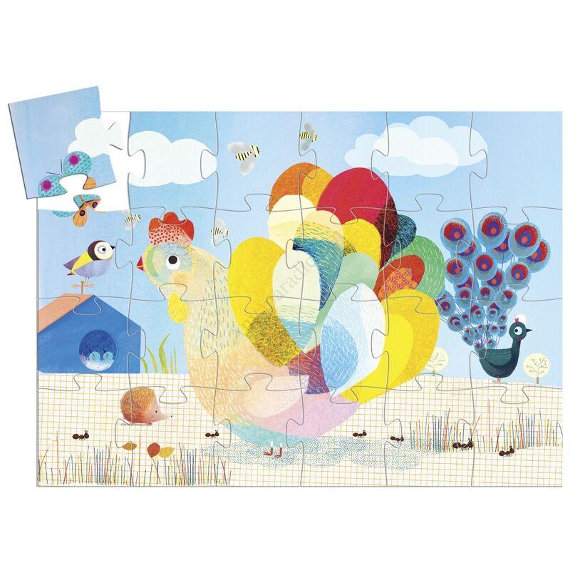 Djeco Formadobozos puzzle A bölcs tyúk kifutó termék