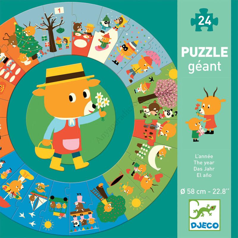 Djeco óriás sorozat puzzle, mackó éve