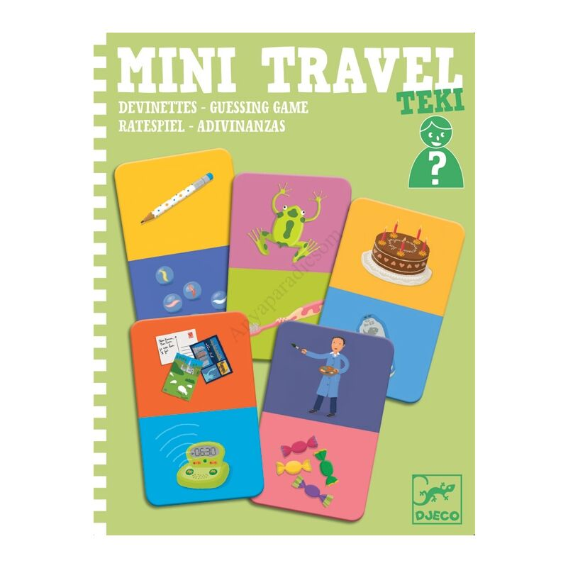 Djeco mini utazós játék, kérdezz-felelek
