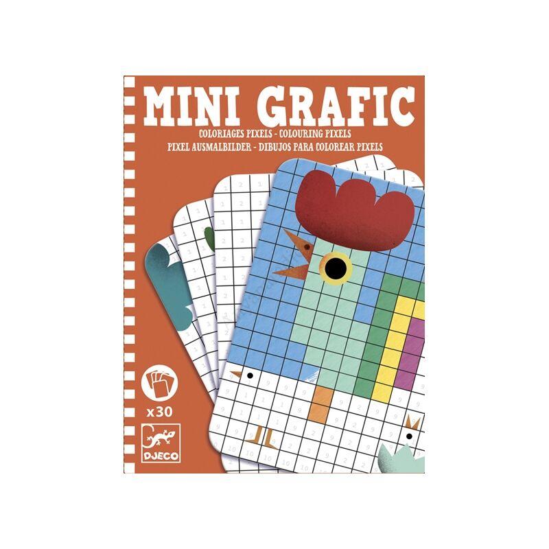 Djeco mini pixel színező utazós játék - kifutó termék
