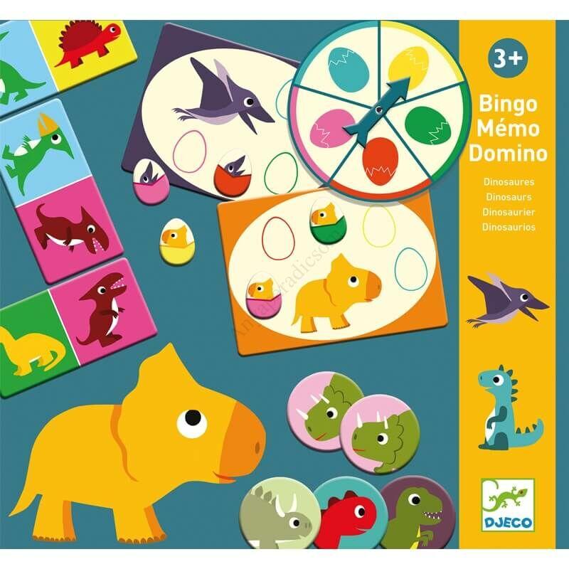 djeco dinoszaurusz memoria bingo domino