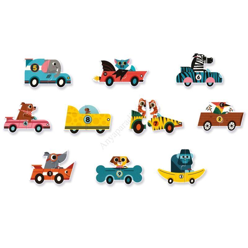 djeco parosito puzzle autok