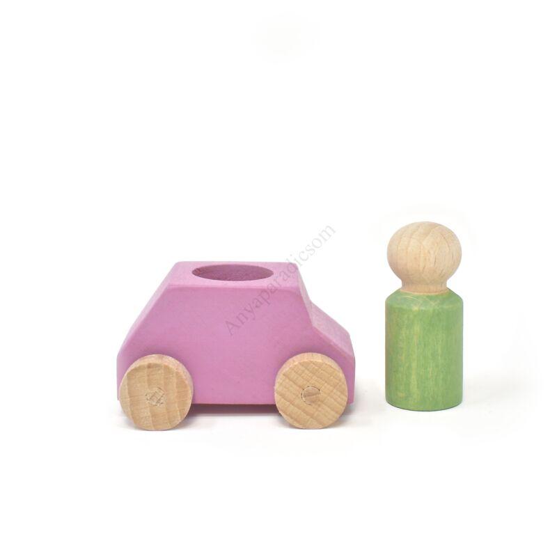 lubulona rozsaszin auto figuraval