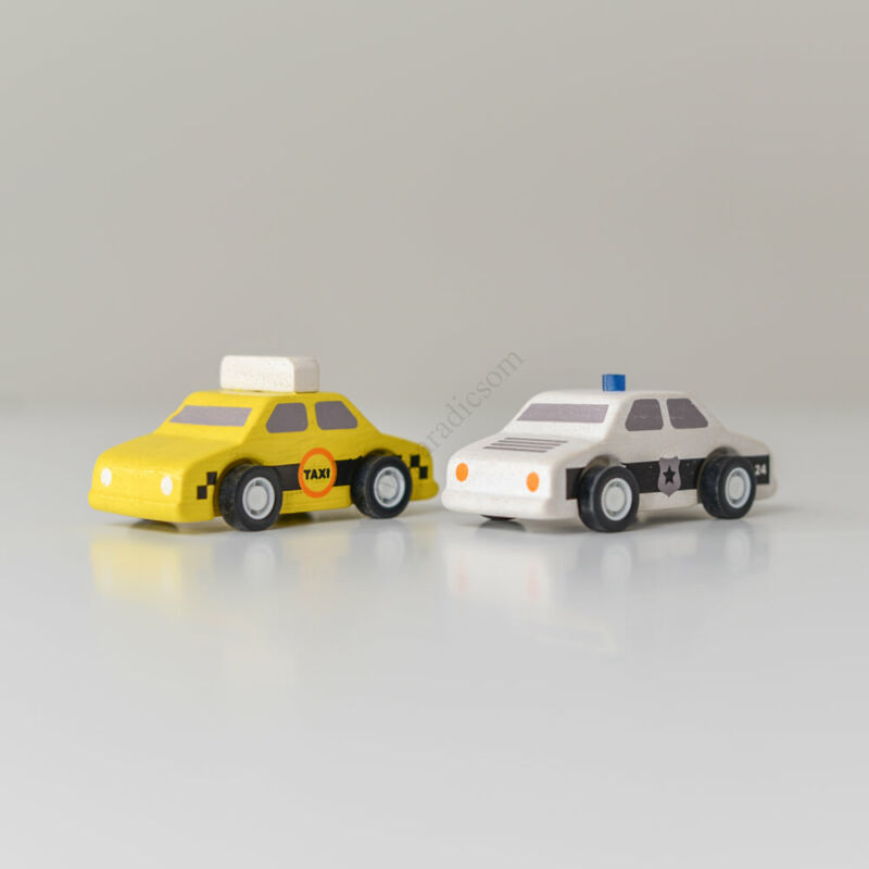 PlanToys taxi és rendőrautó