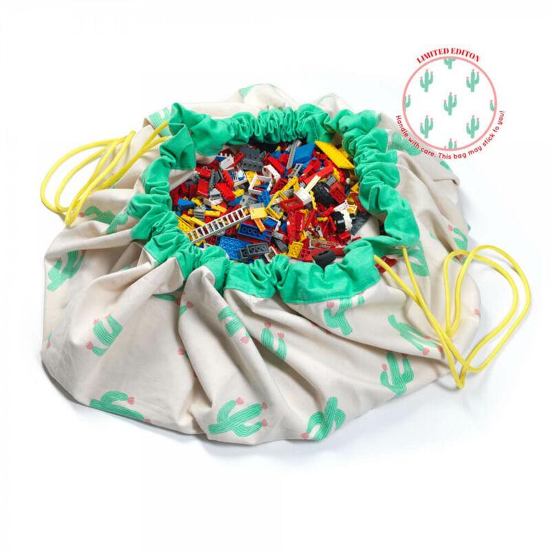 Play&go játéktároló zsák 2 az 1-ben, kaktusz