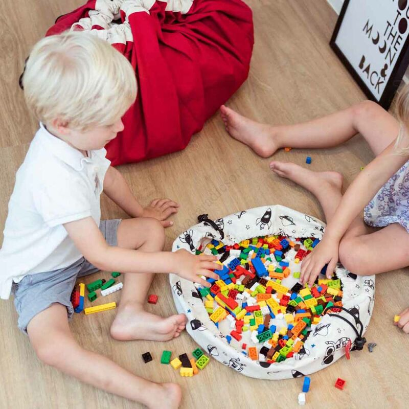 Play&go mini játéktároló zsák 2 az 1-ben, űr